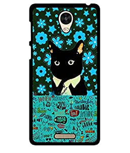 Fuson 2D Printed Cat Designer back case cover for Xiaomi Redmi 3S - D4215