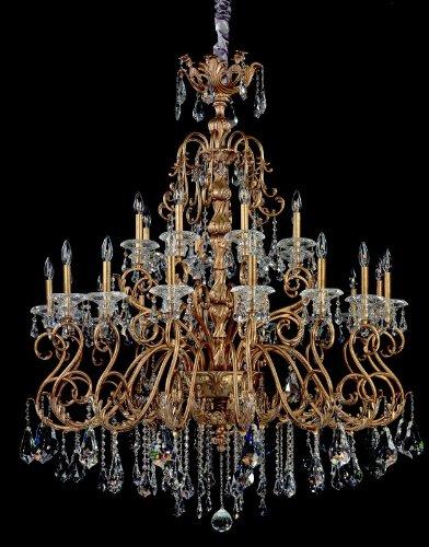 Cool  fr Haydn light Chandelier W Clear Firenze Crystal Aged Bronze