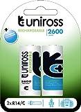 Uniross U0239875 Pile rechargeable 2600 mAh 1,2V Bleu