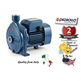 Pedrollo 44CI136V1A5P Model CPm 610 115V 60Hz Single-phase Centrifugal Pump, Flow rate up to 80 l/min (4.8 m³/h), Head up to 30 m, 0.60kW and 0.85 HP Power (P2)