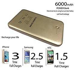 Evana Elegant Royal Gold Class Premium Power Bank CL K9 6000 mah