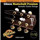 GIBSON MASTERBUILT ACOUSTIC GUITAR STRINGS 11/52