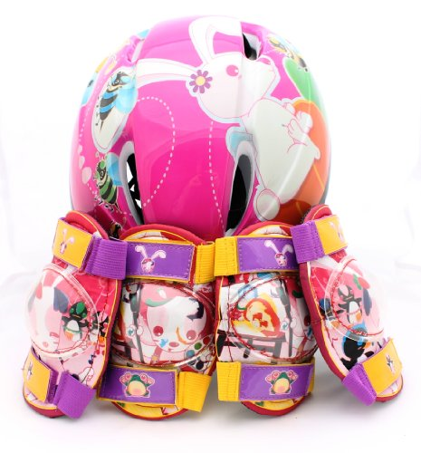 Pink Childrens Combo Helmet & Pad set Cycling / Skating / Scooter / Bike