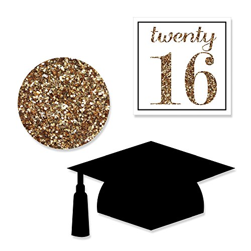 Tassel Worth The Hassle - Gold - DIY Shaped Graduation Party Cut-Outs - 24 Count