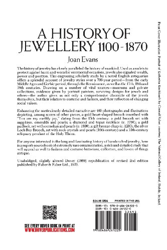 A History of Jewellery, 1100-1870 (Dover Jewelry and Metalwork)