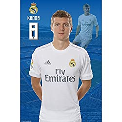Real Madrid C.F. Poster Kroos 38 (Poster Sticker - 12 x 18 inch)