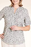 Classic Collection Pure Cotton Ditsy Floral Blouse [T58-7042-S]