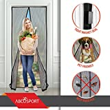 Magnetic Screen Door - Keeps The Fresh Air In and The Bugs Out - Mesh Comes With Velcro or Pins - Closes Automatically With The 18 Powerful Magnets - Fits Doors Up to 39