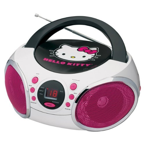 Hello Kitty Kt2026-Mby Portable Stereo Cd Boombox With Am/Fm Radio Speaker Aux-In. Newest Model
