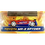 Dub City Import Racer! / Toyota Mr 2 Spyder / Red & Blue / 1:64 Scale Die Cast Collectible / Jada Toys / 2003