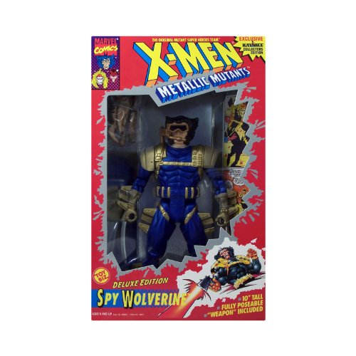 "X-Men Metallic Mutants Deluxe Edition Spy Wolve 10"" Fully Poseable Doll - 1"
