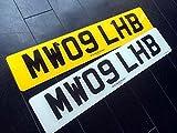 イギリス 英国 USEDナンバープレート 2枚組 MW09LHB SUBARU スバル