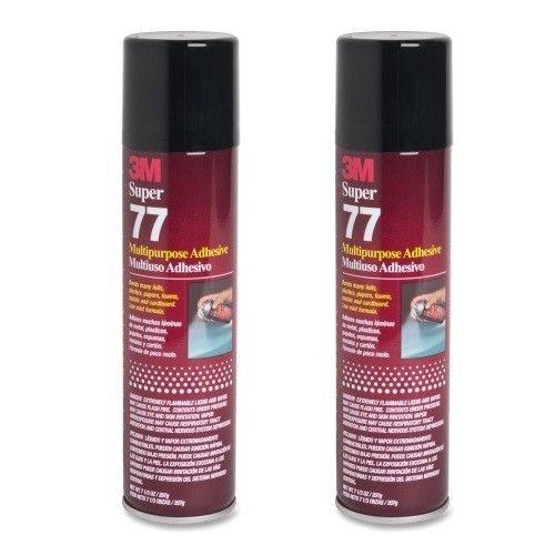2-cans-3m-super-77-glue-multipurpose-adhesive-for-foil-plastic-paper-foam-metal