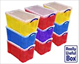 Asstd Lot of 84 Litre Really Useful Plastic Boxes* 9 Boxes only £139.50 * that's just £15.50 per box FREE P&P