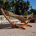 Cypress Wood Arc Hammock Stand (STAINED) by Caribbean Hammocks