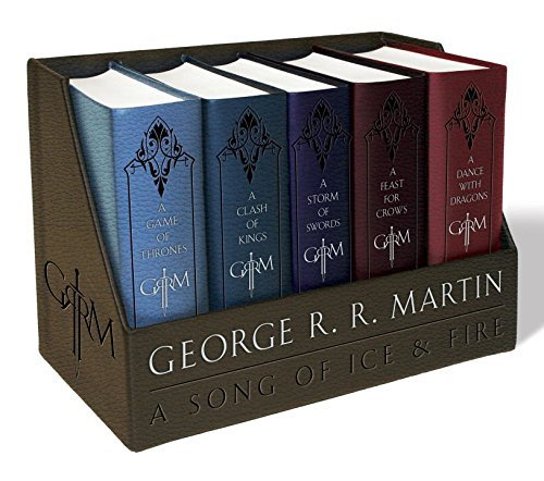 George R. R. Martin's a Game of Thrones Leather-Cloth Boxed Set (Brand New) (Halloween Costume 9gag)