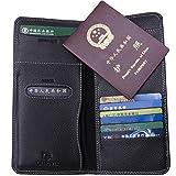 Leaptech echtem Leder Reisedokument Halter lange Form, Reisebrieftasche,Ausweistaschen,Reiseorganizer