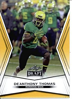 2014 Leaf Draft Edition Football De'Anthony Thomas Oregon Kansas City Chiefs Rookie Card #DE-13