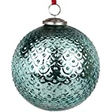 EarthenMetal Handcrafted Blue Coloured Christmas Decoratives / Glass Hanging Ball-6inch