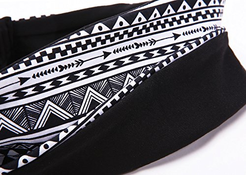 Heathyoga Headband for Yoga, Running and Fitness. Top Quality Material with Multi Style Design.