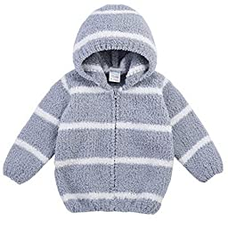 2014 Bornbay Newborn Unisex-baby Chenille Coat Autumn Winter Breathable Hoodie with Zipper (100cm/39.37 inch, Light grey)