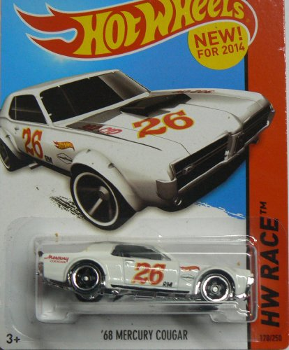 Hot Wheels HW Race - 170/250 - '68 Mercury Cougar - White