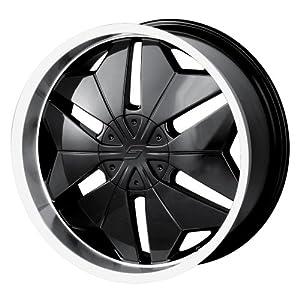 Sacchi S75 275 Black Wheel with Machined Lip (20×8.5″/10×114.3mm)