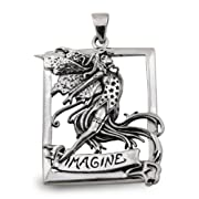 Imagine Fairy Pendant in Sterling Silver by Amy Brown