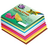 Global Art Folia 6-Inch by 6-Inch Origami Paper, 10 Colors, 500-Pack