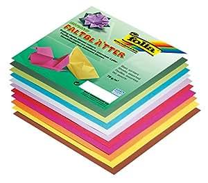 Papier pour pliage Origami 15*15, 2 faces couleurs et pochettes de 100 feuilles assorties