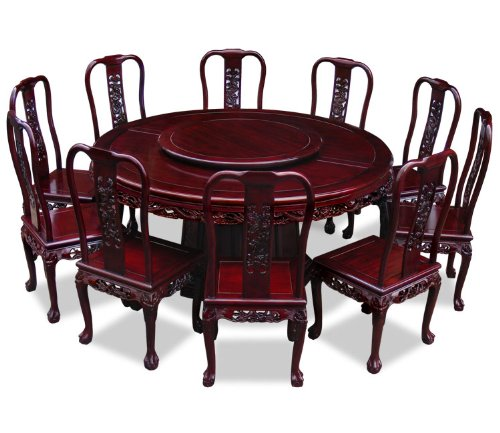 ROUND DINING TABLE FOR 10 : ROUND DINING TABLE