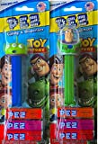 Toy Story Pez Candy and Dispenser 4 Pack of Characters Gift Set Includes Woody , Jessie , Buzz Lightyear, and Green Alien !