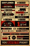 Fight Club The Rules Typography Movie...