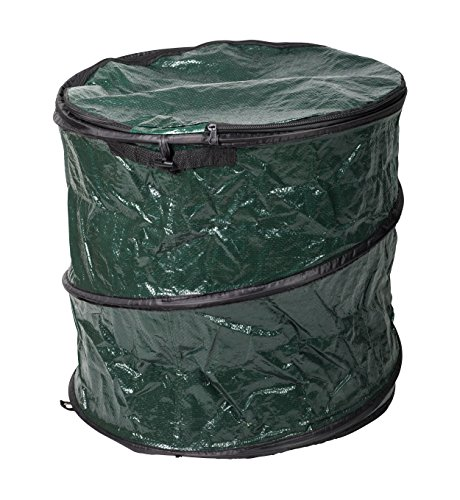 LevelOne Collapsible Travel Camping Garbage Trash Can (Green) (Collapsible Trash Can For Camping compare prices)