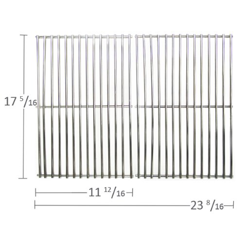 69112 - Stainless Steel Cooking Grid For Gas Grill Models Kalamazoo, Kenmore, Kmart, Nexgrill & Weber front-278661