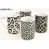 Sabichi Porcelain Safari Mug Set Set of 4