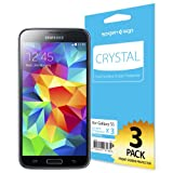 [Full HD] Spigen Samsung Galaxy S5 Screen Protector [Crystal Clear][3-PACK]**JAPANESE BASE PET FILM** Premium Front Screen Protector for Galaxy S5 / Galaxy SV / Galaxy S V (2014) - Crystal CR (SGP10722)