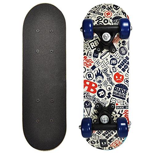 Rude Boyz 17 Inch Mini Wooden Skateboard - Rude Boyz Icon Design (Deathwish Boards compare prices)