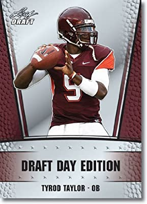 2011 Leaf NFL Draft Day Edition Football Card #18 Tyrod Taylor RC - Baltimore Ravens (RC - Rookie Card) NFL Rookie Trading Card