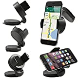 ITALKonline iHOLDER UNIVERSAL COMPACT 360 Degrees Rotating Case Compatible Wind Screen Dashboard Suction Mount Holder for Palm Treo 750