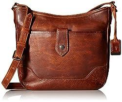 FRYE Melissa Button Cross Body Bag, Cognac, One Size