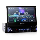 Auna-Autoradio-DTA90-Moniceiver-mit-DVD-Player-und-18cm-7-Zoll-Touchscreen-LED-Display-Radio-und-Multimedia-USBSD-Anschlssen-4x-45W-18cm-7-Zoll-Display