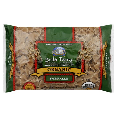 Bella Terra Pasta Farfalle Bow Ties Whole Wheat Organic 12.0 OZ