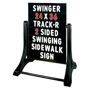 Sidewalk Deluxe Swinger Sign /Black