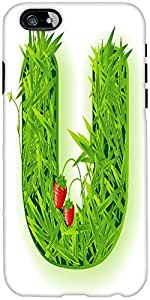 Snoogg Vector Grass Letter Designer Protective Back Case Cover For Apple Ipho...
