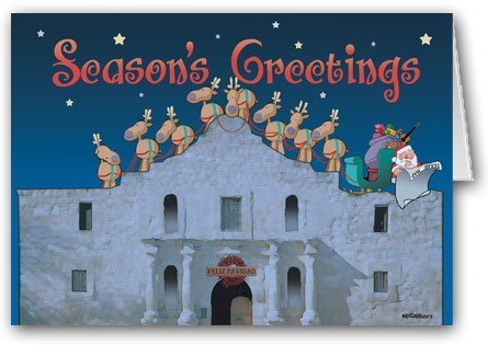 the-alamo-san-antonio-texas-christmas-card-12-carsd-13-envelopes-by-kersten-enterprises-llc
