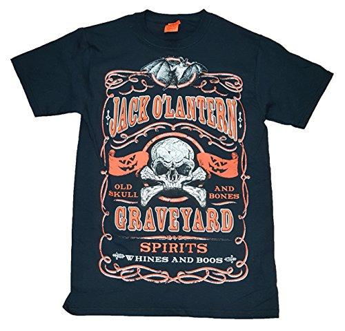 Halloween Jack O' Lantern Graveyard Spirits Graphic T-Shirt - 3XL
