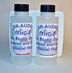 2 x 2 oz. SR-Audio THC-2 Audio Video Head Capstan Cleaner for Cassette Reel to Reel ,Tape Echo,Projectors,Portables edt ect