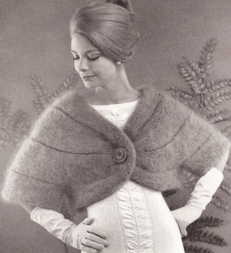 vintage-knitting-pattern-to-make-knitted-cape-stole-w-sleeves-designer-wrap-stole-not-a-finished-ite