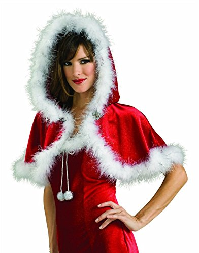 Christmas Capelet (Red) Adult (Red;One Size)